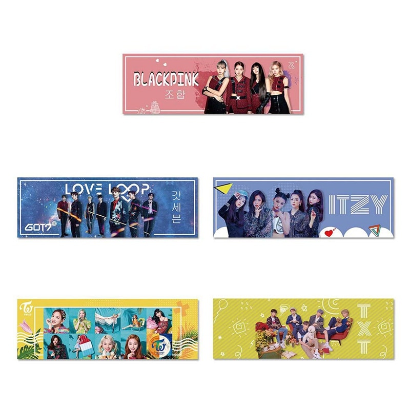 1 pieza Kpop dos veces ITZY BLACKPINK TXT Got7 concierto mano soporte tela para cartel colgante de pancarta para los Fans colección regalo