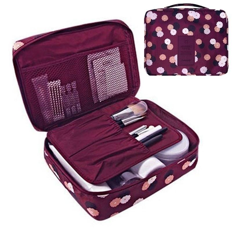 Zippered Cosmetic Organizer Bag Fashion Multi-function Oxford Travel Storage Bag For Men Women Makeup Portable Waterproof Bag