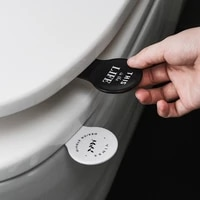Poignee de couvercle de toilette Anti-salissure  1 piece  dispositif de levage de couvercle de toilette auto-adhesif  Gadgets de salle de bain