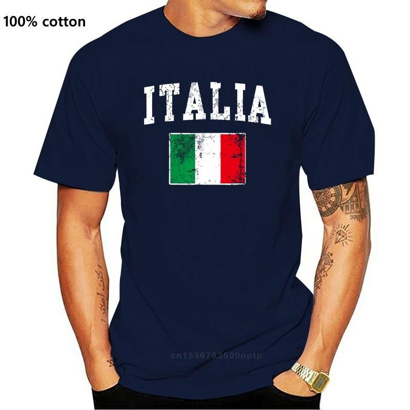 Camiseta de Italia para hombres prenda de vestir de estilo Vintage con...