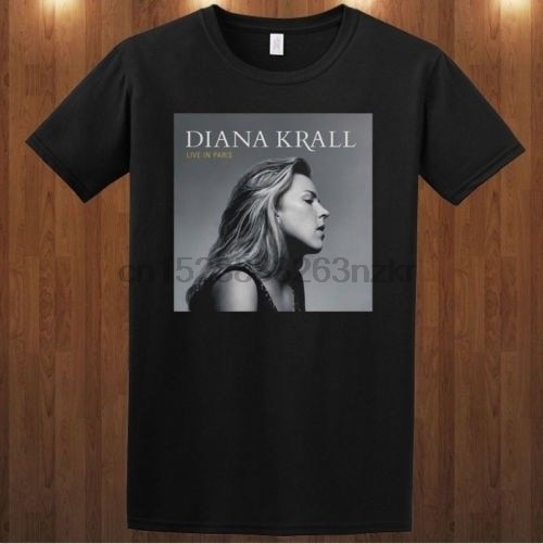 Diana krall camiseta jazz pianista cantor bossa nova s m l xl 2xl 3xl impresso camiseta masculina manga curta engraçado camisetas
