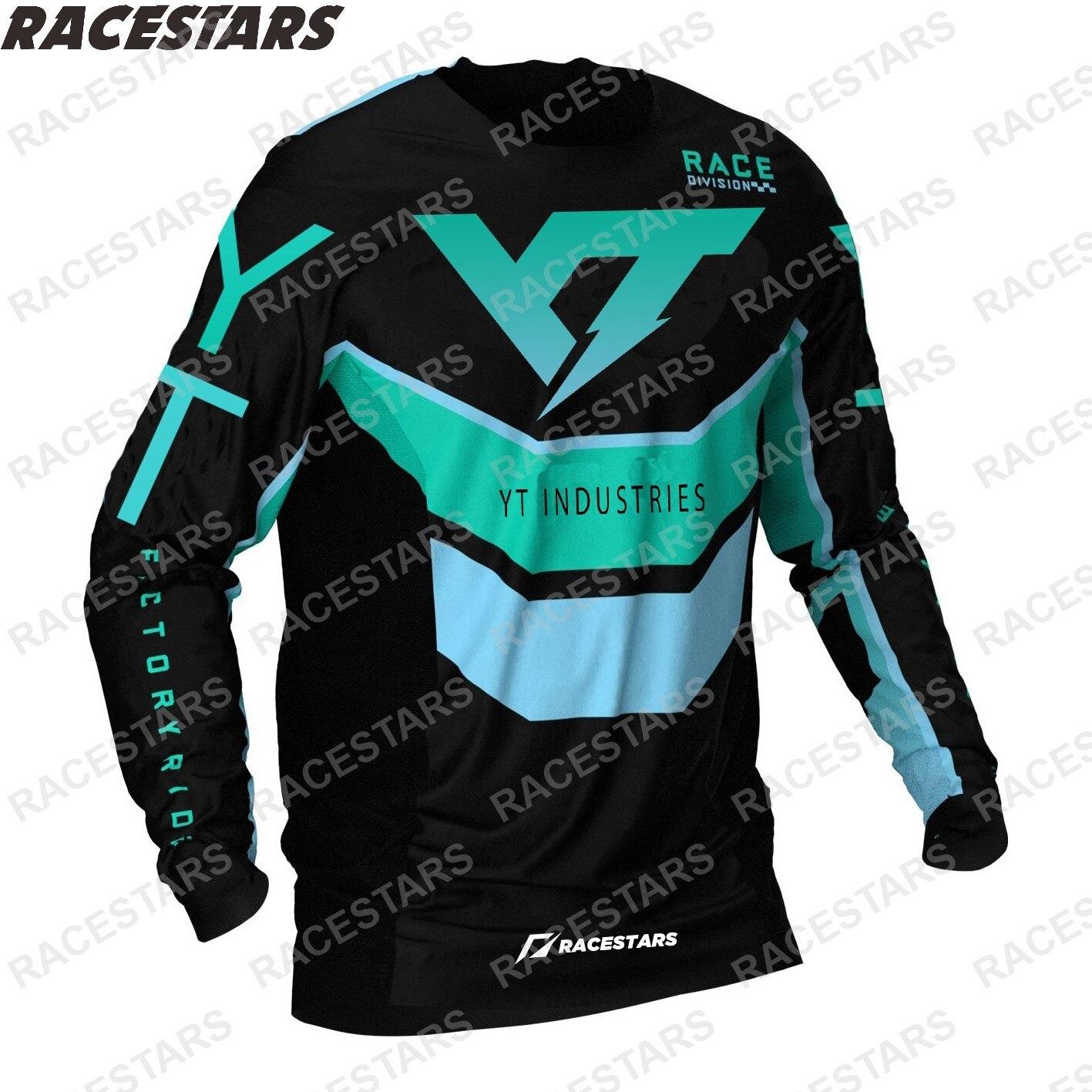 YT-Camiseta de Motocross Enduro para Hombre, camiseta ropa Ciclismo de montaña, Maillot...