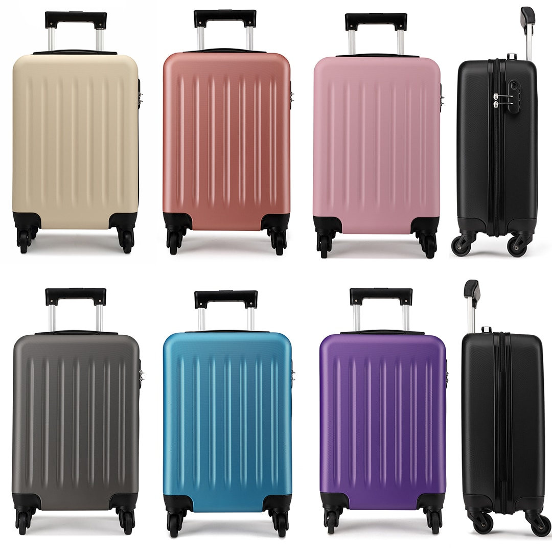 KONO ABS HARD SHELL 24 INCH SUITCASE WITH SPINNING WHEELS LUGGAGE-K1872L