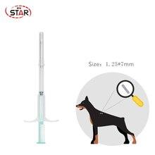 Seringue vétérinaire stérile jetable   Pour micropuce de poisson chat petits animaux 1.25*7mm 60 pièces