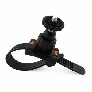 Регулируемый держатель крепления на велосипедный ремень для Gopro Hero 8 7 6 5 4 3 + 3 черный зажим-кронштейн зажим рулонная планка крепление на молн...