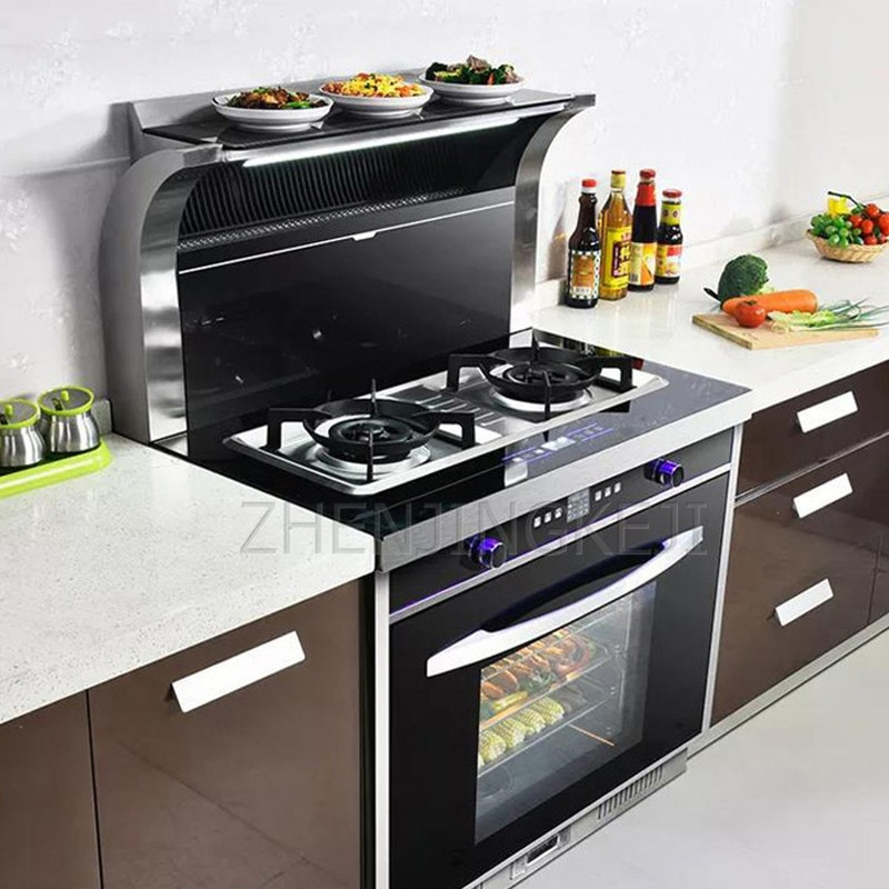 Home Integrated Stove Range Hood Steam Grilled Dry Eliminate All-in-one Hood Cooker Smoke Stove Environmental Protection Stove