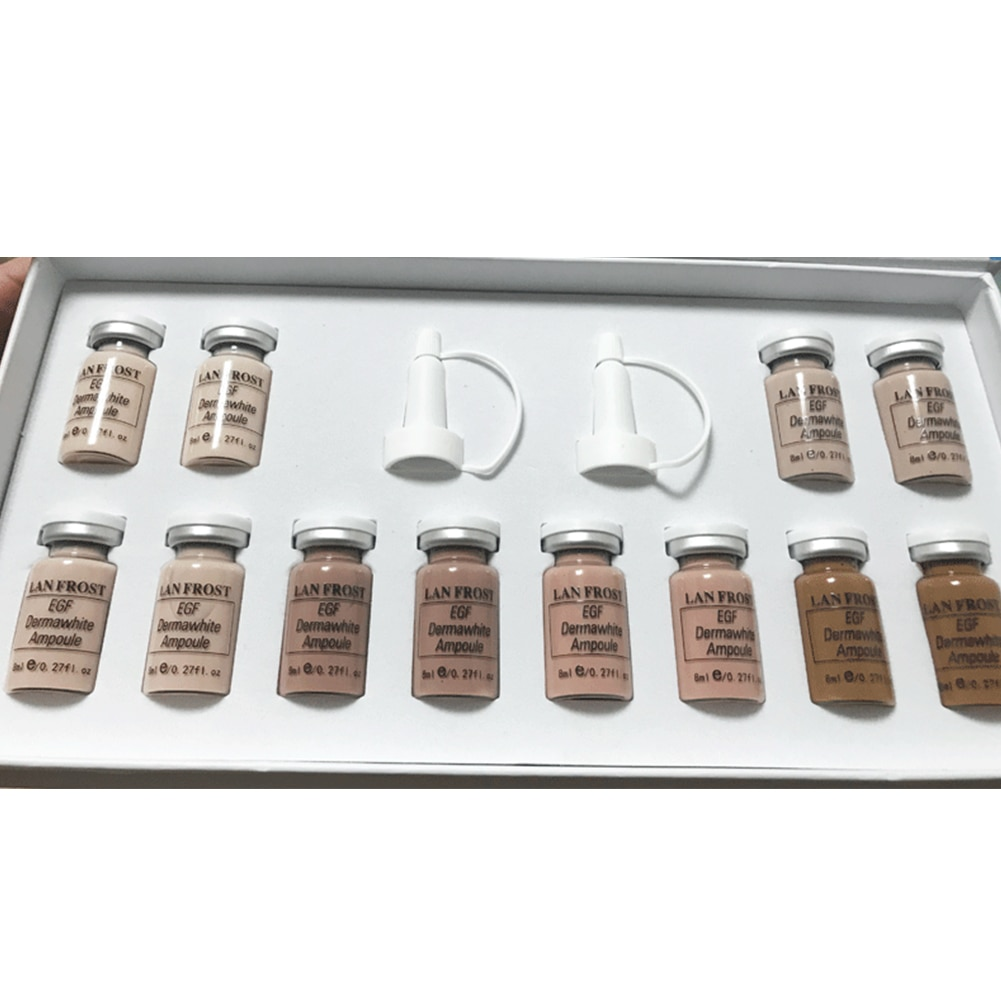 12 Uds. Corrector Base Facial Natural cosmético aceite Control de larga duración maquillaje líquido Base Set fiesta hidratante portátil