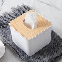 tissue box wooden cover toilet paper box solid wood napkin holder case simple stylish tissue paper dispenser home car organizer