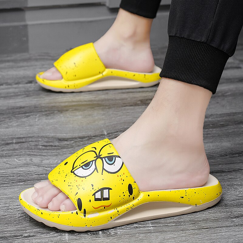 New men's and women's beach slippers simple household coconut hole shoes non-slip bathroom sandals and slippers flip flops
