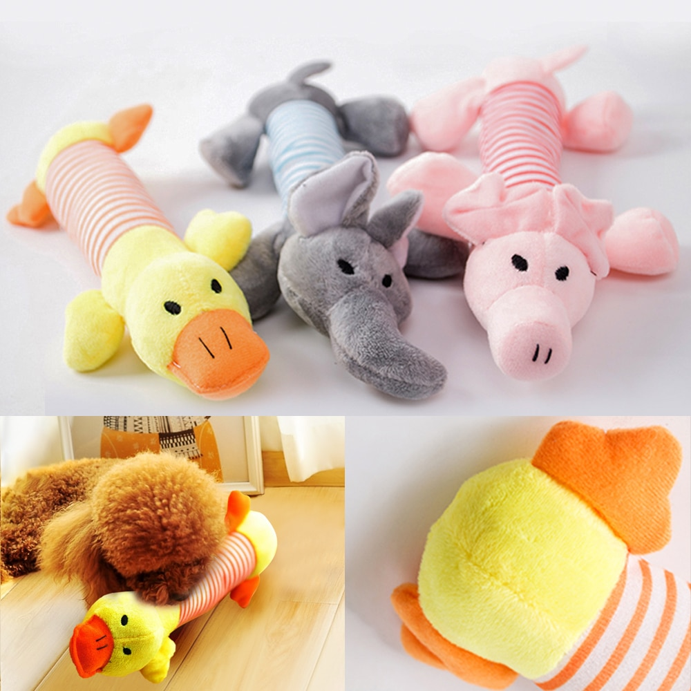 Juguetes para perros, juguetes para perros con sonido, forro polar divertido, durabilidad, mordedor, juguete Molar, mascotas lindas, elefante, pato, cerdo, apto para todas las mascotas, perro, gato, felpa