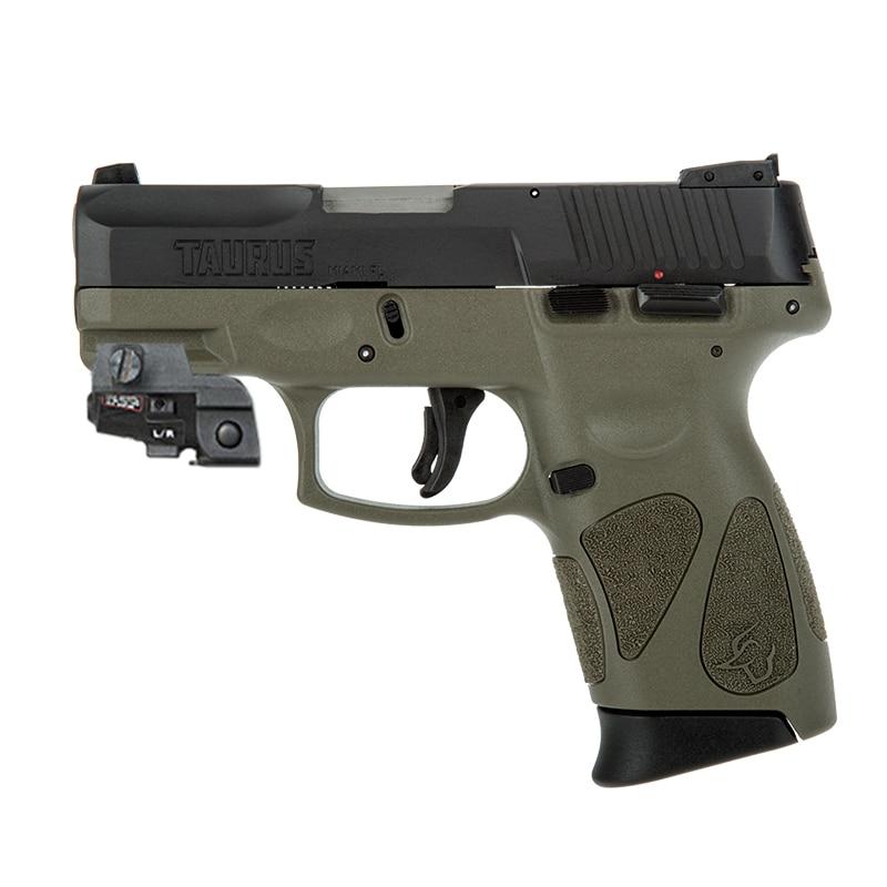 قابلة للشحن غلوك 17 مسدس عدسة رؤية بالليزر الأخضر التكتيكية الدفاع الذاتي الأسلحة بندقية الليزر Picatinny السكك الحديدية تهدف مؤشر الليزر