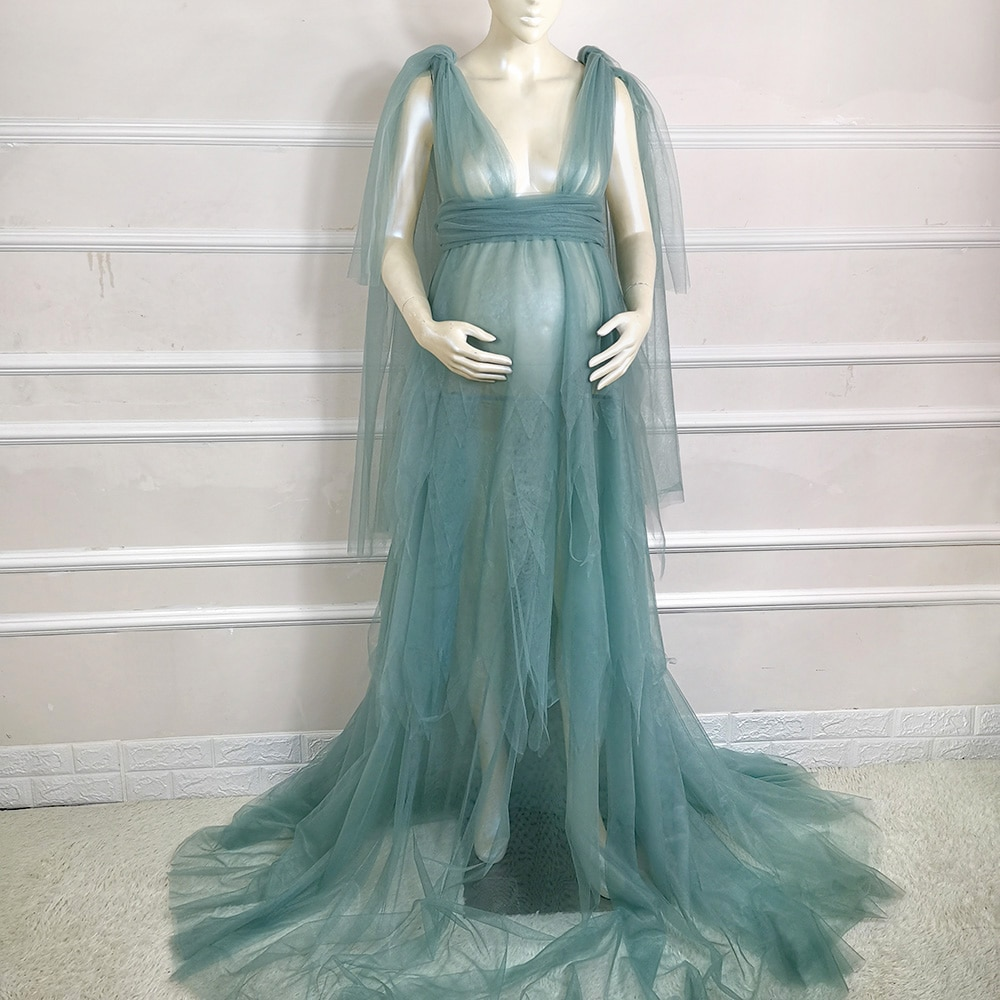 Don&Judy Tulle Maternity Dress Photo Shoot Props Maternity Photography Tulle Gown For Baby Shower Party Dresses Custom Made enlarge