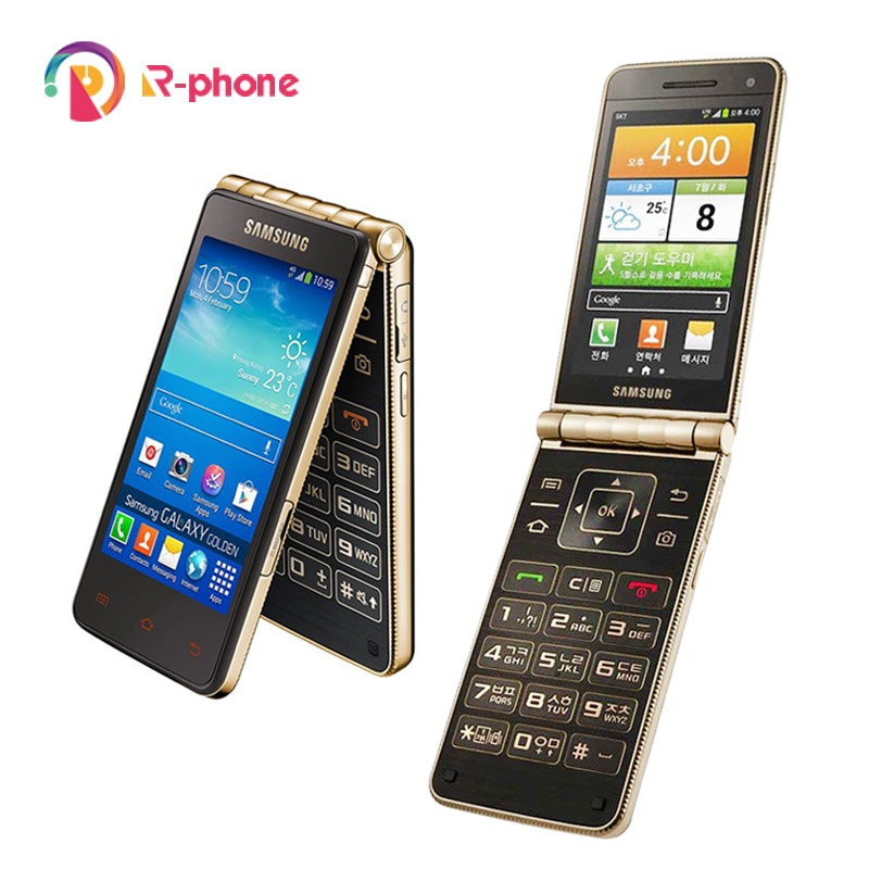 "Originele Samsung Galaxy Golden I9235 Unlocked 3G Mobiele Telefoon 3.7 ""16Gb Rom 8MP Camera Flip Android Smartphone"