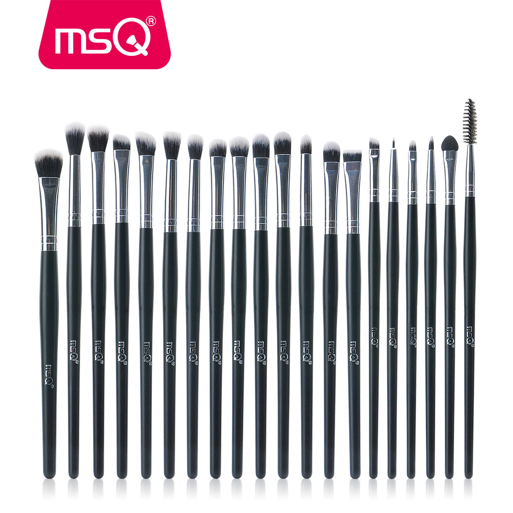 MSQ Professional 20PCS Makeup Brushes Sets Eye Shadow Eyelashes Eyebrow Lip Cosmetic Tool Make Up Eyes Detail Brush Kits