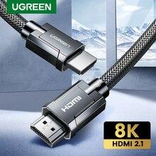 Кабель Ugreen HDMI 2,1 8K/60Hz 4K/120Hz 48 Гбит/с HDCP2.2 кабель hdmi для PS5 PS4 сплиттер переключатель аудио-видео кабель 8K HDMI 2,1