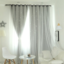 Star Shading Window Blackout Curtain Drapes Purdah for Living Room Princess Children Room Curtain Baby Kid's Room