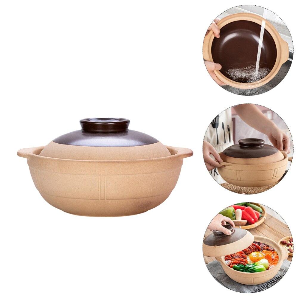 1 قطعة كسرولة من السيراميك إناء عميق تجهيزات المطابخ من السيراميك للاستخدام المنزلي (ألوان متنوعة)