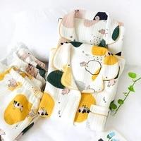 women winter thick warm pajamas set three layers cotton home suit female knitted sleepwear homewear lovely cartoon nightwear