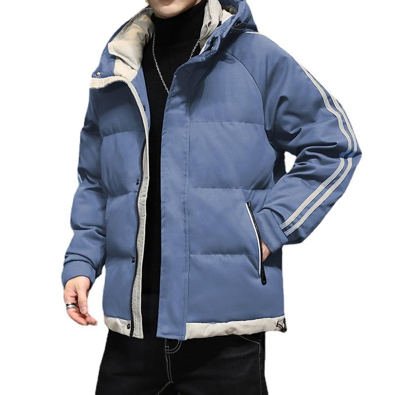 Осень-зима 2021, мужские куртки, толстая стеганая куртка, повседневная мужская одежда, верхняя одежда, мужская модная одежда