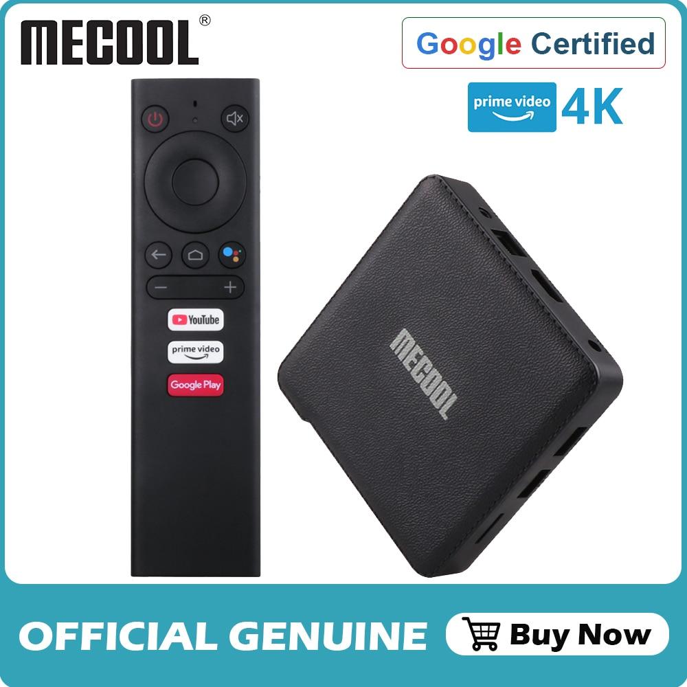 Mecool-Android TV Box KM1 ، 4K ، S905X3 ، 4 جيجابايت/64 جيجابايت ، وحدة فك ترميز الإشارة مع Amlogic S905X3 ، Android 10.0 ، التحكم الصوتي ، Youtube