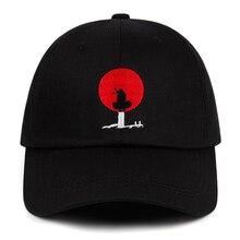 Chapeau de Baseball brodé 100% coton Uchiha Itachi Dad   Casquette Akatsuki Anime Naruto, chapeau japonais Uchiha Sasuke Logo, casquette à rabat