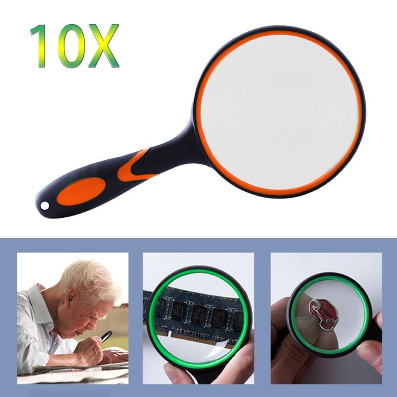10X joyería de Jade Antigua lupa de vidrio multifunción fabricación hábil lupa de mano lupa de ojo portátil