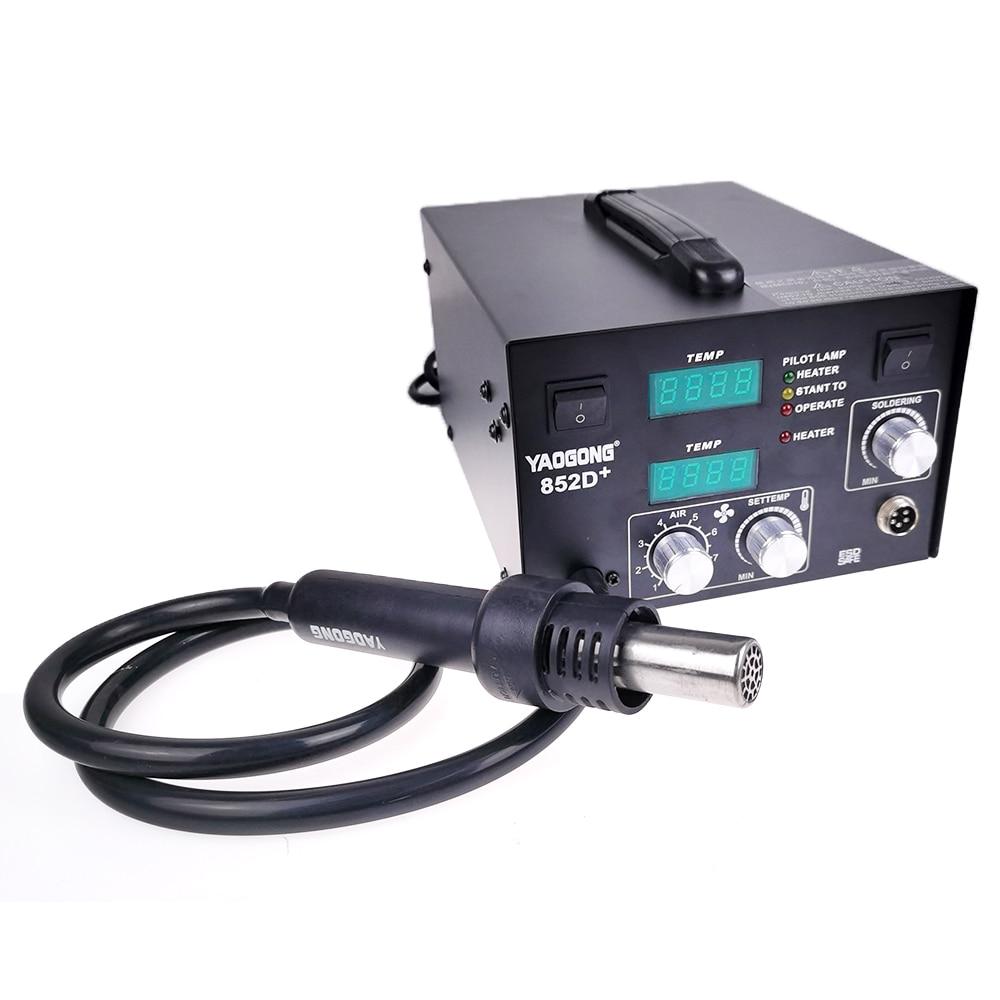 �������������� 2 �� 1 Паяльная станция BGA Air Pump, тип Yaogong 852D +, двойной цифровой дисплей, регулируемая постоянная температура, 2 в 1, 1, 5, 2, 1, 2, 2, 1, 2, 1, 2