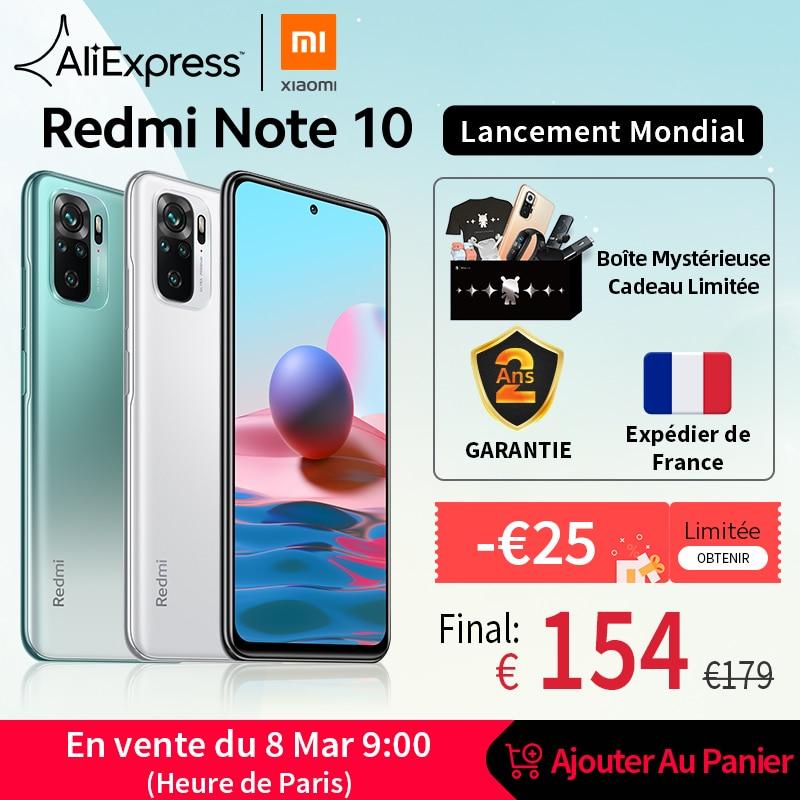 [World Premiere In Stock] Global Version Xiaomi Redmi Note 10 Smartphone Snapdragon 678 AMOLED Display 48MP Quad Camera 33W
