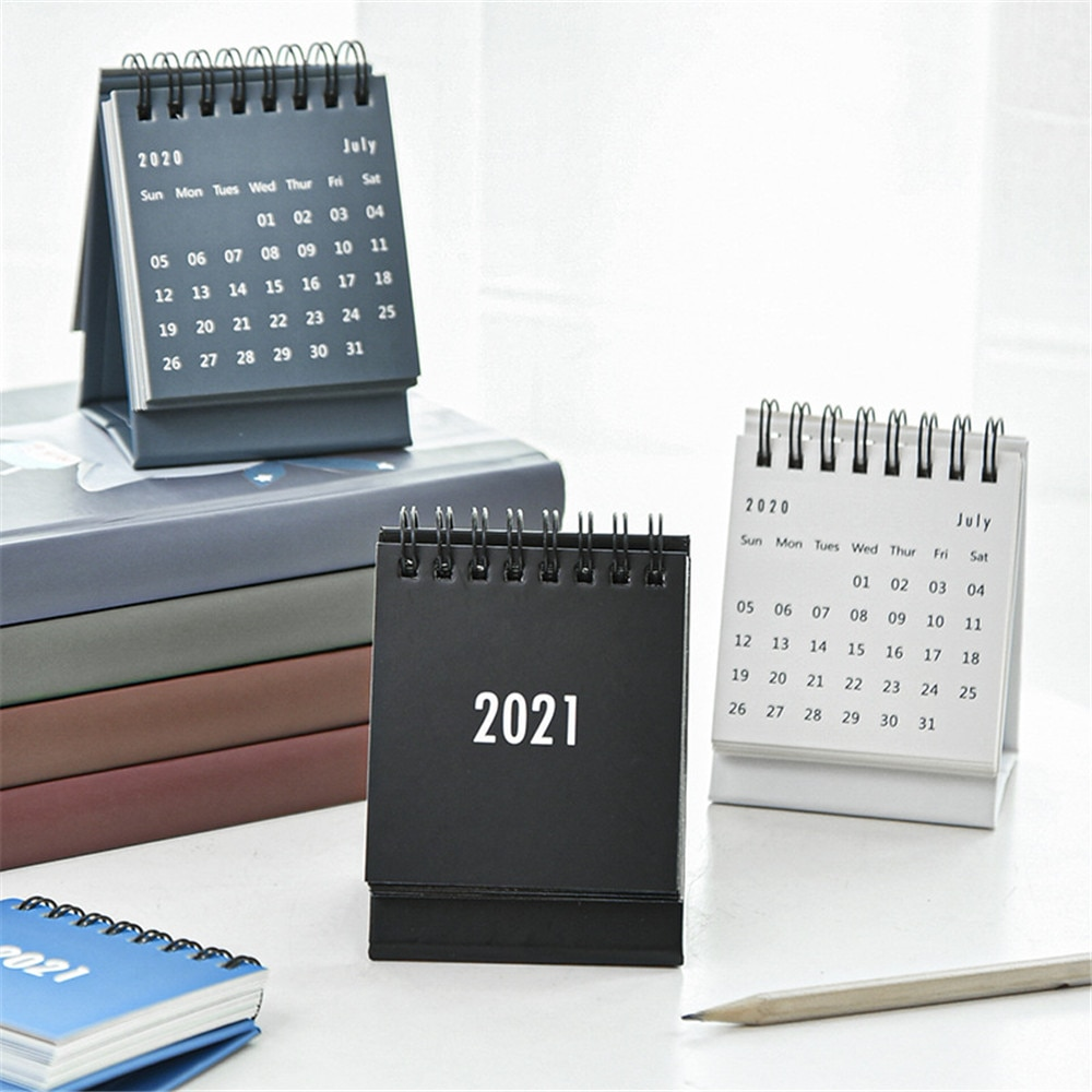 2021 2022 Simple Desk Coil Calendar with Stickers Mini Dual Daily Schedule Table Planner Yearly Organizer Office School Supplies недорого