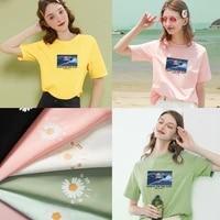 cartoon t shirt short sleeved top goldfish girl on the cliff ladies t shirt 100 cotton t shirt comfortable loose t shirt top