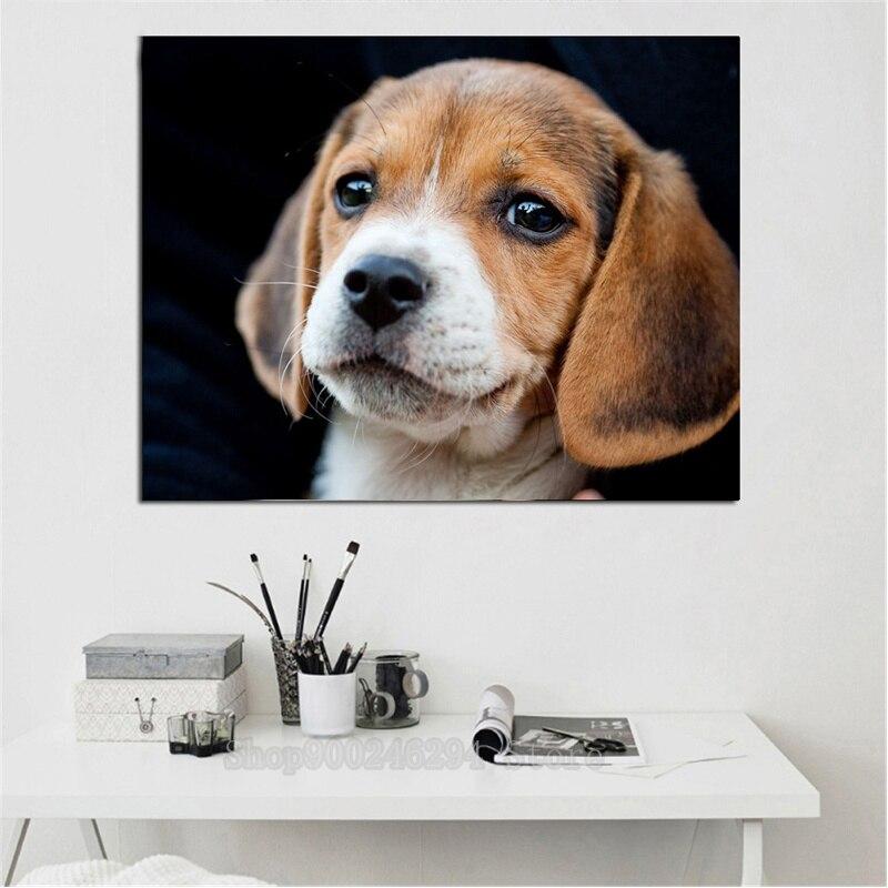 3d Cruz puntada cuadro de perro hecho de diamantes Beagle cachorro diamante del bordado de La Plaza Redonda diamante kit para hacer mosaicos 5d diy animales FF1815