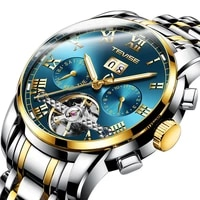 2021 trend man automatic mechanical fallow stainless steel strap waterproof noctilucent multifunction mens watches 9005big