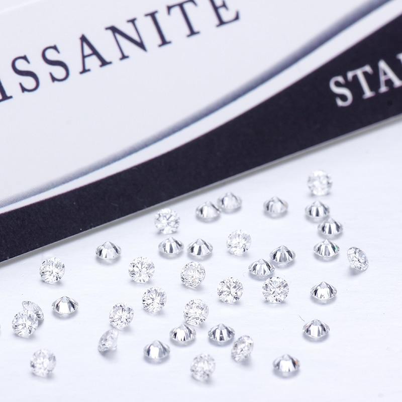 Hombre hecho diamante 50 unids/pack 1,15mm DEF color VS claridad ronda HPHT laboratorio crecido Diamante Suelto perlas para joyería haciendo