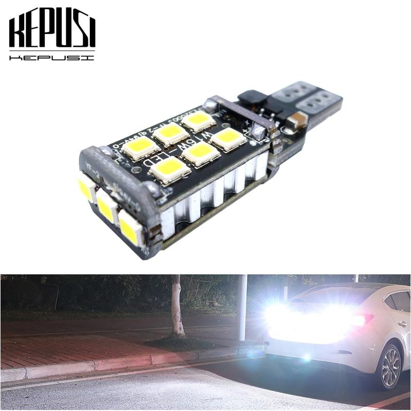 T15 W16W Super brillante 2835 15SMD CANBUS LED luces de reserva de apoyo para coche bombilla de luz trasera xenón blanco