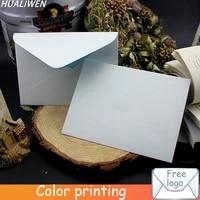 custom blank paper envelope special paper envelope light blue lined wedding invitation letter envelope gift envelope