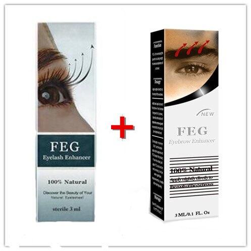 FEG ресницы/наращивание бровей масло натуральная травяная сыворотка 100% оригинальная сыворотка для ресниц Eyebow дольше и рост Bushy