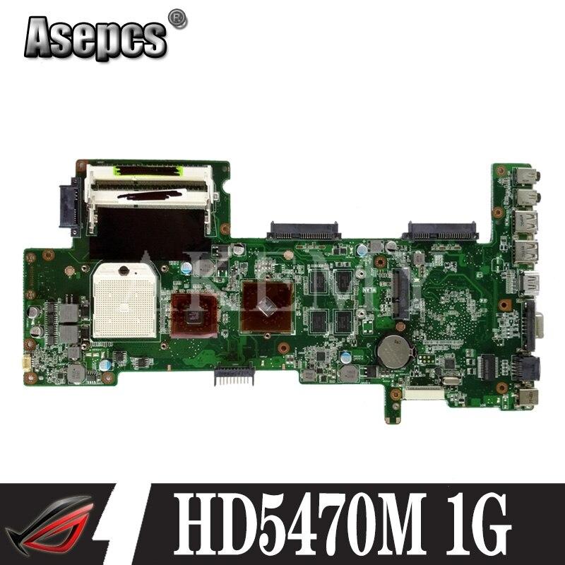 Placa base de ordenador portátil AKEMY K72DR para ASUS K72DR X72D X72DY A72D, prueba de 100% Ok HD5470M 1G