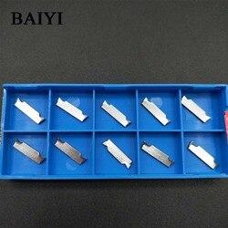 10pcs MGGN150/MGGN200/MGGN300/MGGN400/MGGN500-H01 Corte De Carboneto de ferramentas de tornear grooving Inserções Para alumínio
