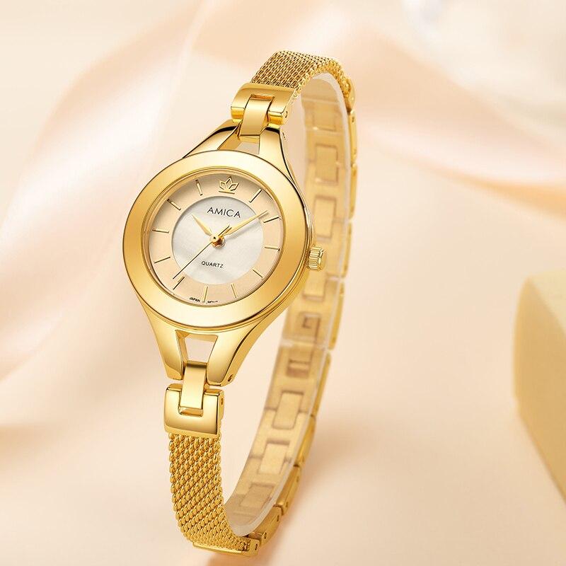 AMICA Women Luxury Brand Watch Simple Quartz Lady Wristwatch Female Fashion Casual Watches Clock Reloj Mujer enlarge