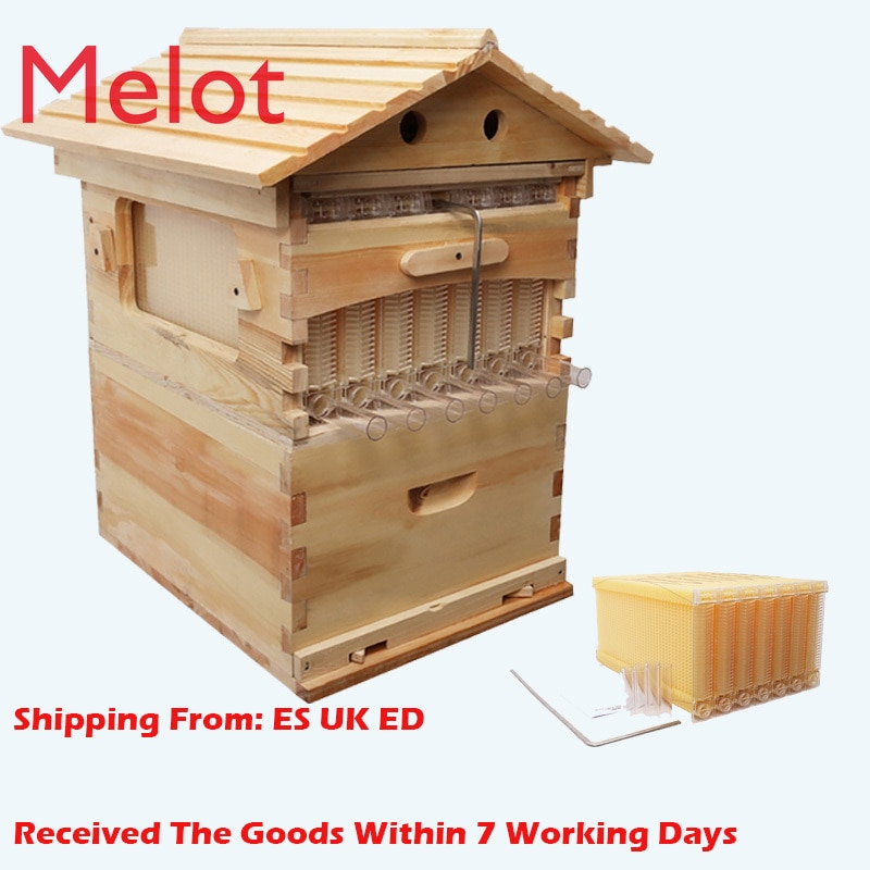Automatic Honey Bee Hive House Honey Collection  Wooden Food Grade Box Bee Hive Frame Beehive Box Beekeeping Box Tools Supplies недорого
