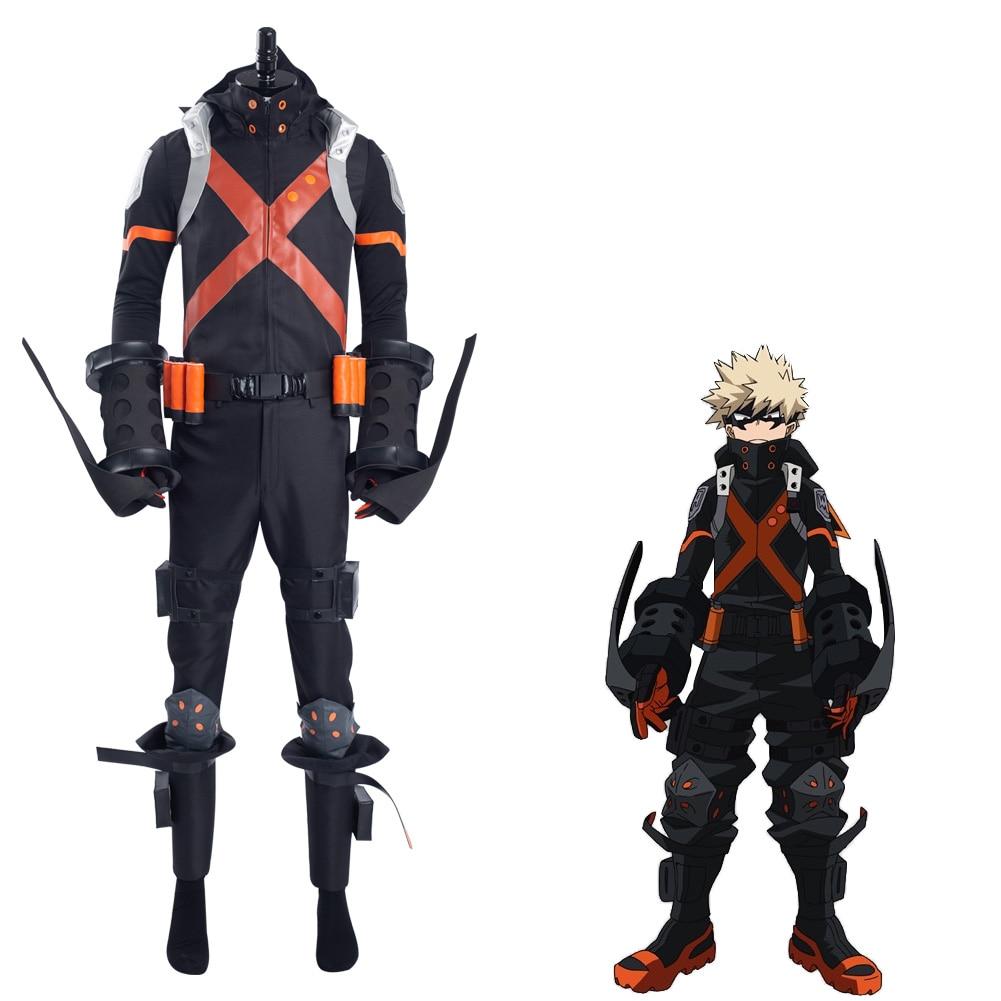 Boku no My Hero Academia Katsuki Bakugou طقم ملابس تنكرية للهالوين كرنفال البدلة