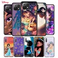 soft silicone cover disney jasmine princess for xiaomi mi 11 11i 10i 10t note 10 9 9t se 8 lite pro ultra phone case