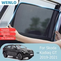 for skoda kodiaq gt 2019 2021 front windshield car sunshade side window blind sun shade magnetic visor door mesh curtains cover