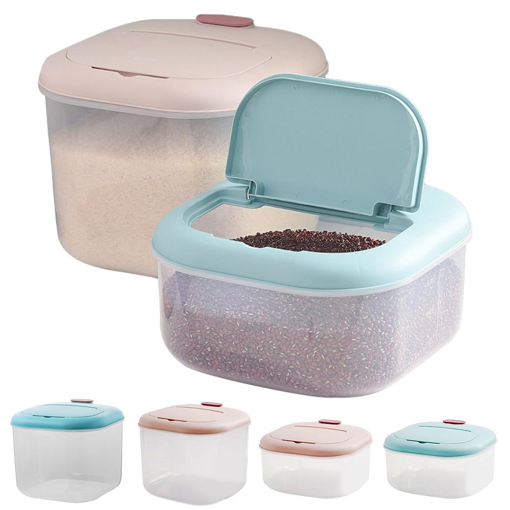 AliExpress - 10/6 KG Rice Grain Storage Box Plastic Thicken Sealed Rice Grain Cereal Flour Storage Box Home Kitchen Storage Rice Container