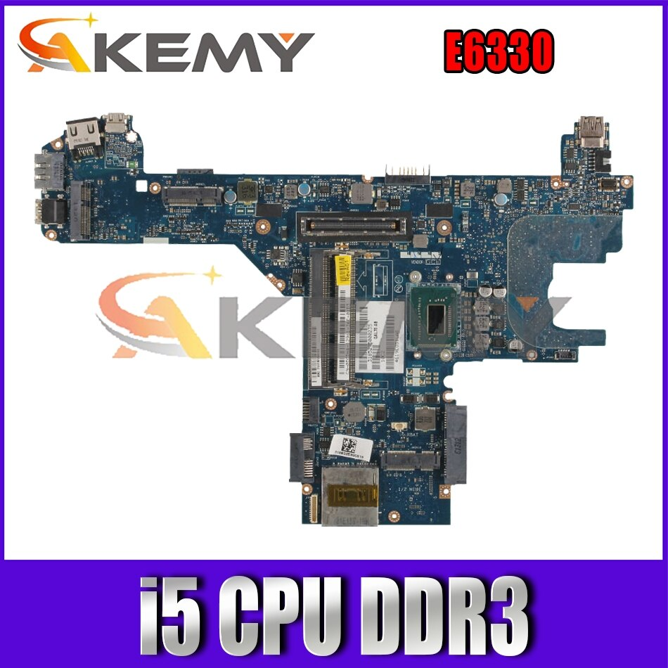 ل خط العرض E6330 ديل E6330 اللوحة المحمول QAL70 LA-7741P CN-0C28RH 0850YT 0J4JVG اللوحة مع i5 CPU DDR3 100% اختبار موافق