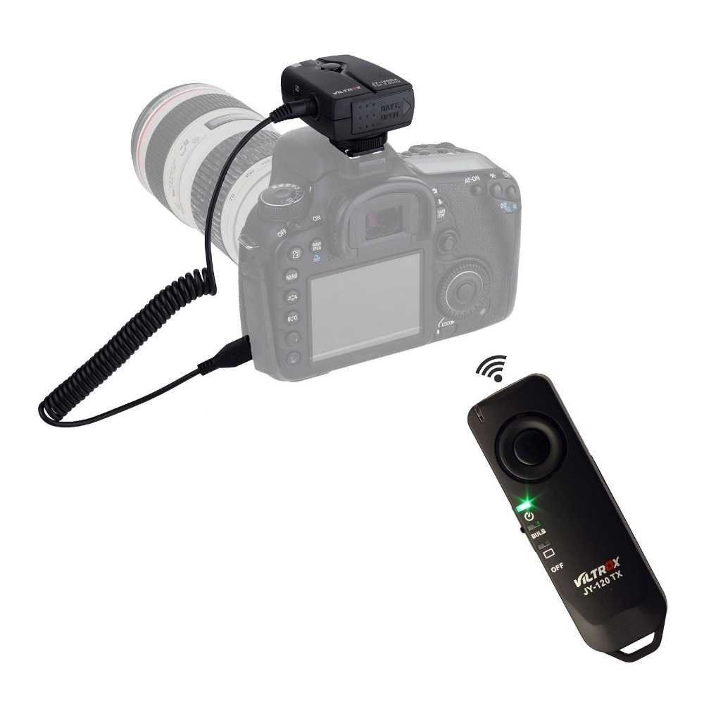 Беспроводная камера Viltrox JY-120-C3 с дистанционным спуском затвора для Canon 20D 40D 50D 1D X Mark III 6D 7D 5D Mark III Mark IV 7D MarkII