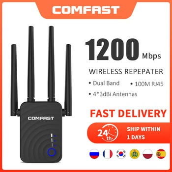 Long Range Extender 802.11ac Wireless WiFi Repeater Wi Fi Booster 2.4G/5Ghz Wi-Fi Amplifier 300/1200 M wifi router Access point