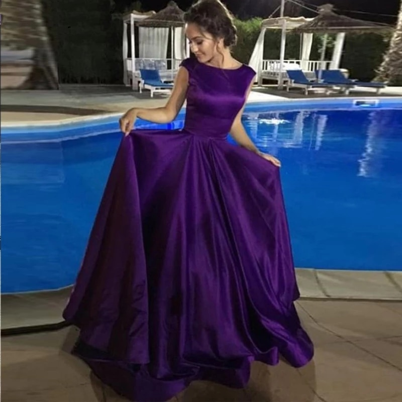 Vestidos de Noche púrpura para fiesta de graduación, vestido de novia sereia,...