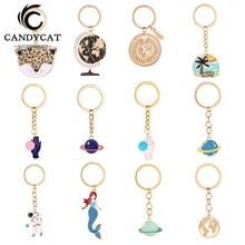 New Fashion Anime Keychain Women Statement Cute Metal Key Ring Kids Couple Key Chain Bag Pendant Gift Creative Jewelry Wholesale