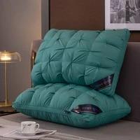 4874cm brand design 3d single pillow 100 polyester fiber orthopedic neck pillow hotel memory pillow healthy sleep